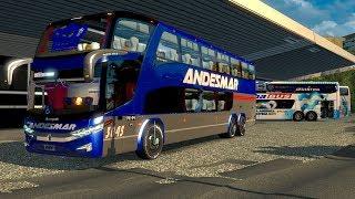 Regreso a Argentina! Chófer de ANDESMAR Marcopolo Paradiso G7 1800 Autobus