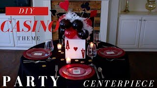DIY | Casino Party Decoration Ideas | Casino Theme Party Centerpiece