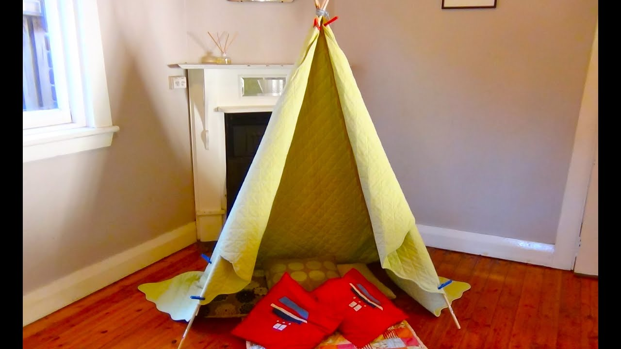 How To Build A Teepee Make Your Own Indoor Teepee Or