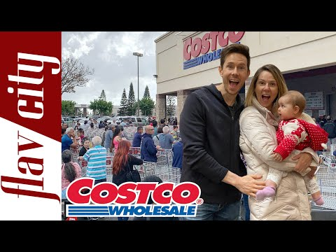 Costco Panic Shopping Stocking Up On Pantry Staples & Immune Boosting Foods!