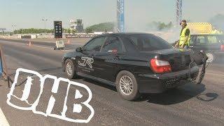 Eg33 powerd Subaru Impreza racing at DHB 2018.