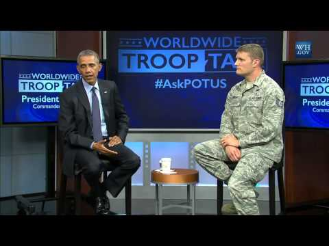Obama Holds Town Hall With Troops- Full Video