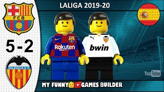 Barcelona vs Valencia 5-2 • LaLiga 2019/20 • Resumen 14/09/19 • All Goal Highlights Lego Football