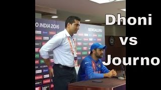 #WT20 Match: Dhoni Rips Into Journalist After India vs Bangladesh