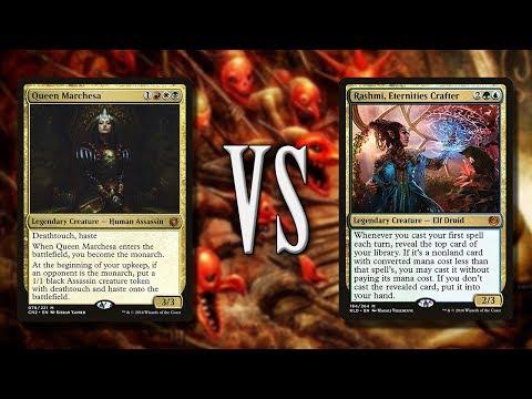 Queen Marchesa vs Rashmi | 1v1 Commander EDH gameplay | eedi H tribalkai