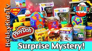 Blind Box! Play-Doh Eggs, Kidrobot Galaxy Superman Transformers Kinder Surprise HobbyKids