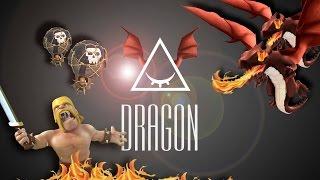 clash of clans aq walk dragon th9 4face