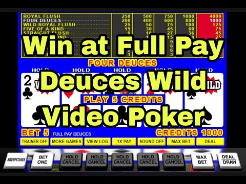 Video Poker Master Class Full Pay Deuces Wild Tutorial Volume 1