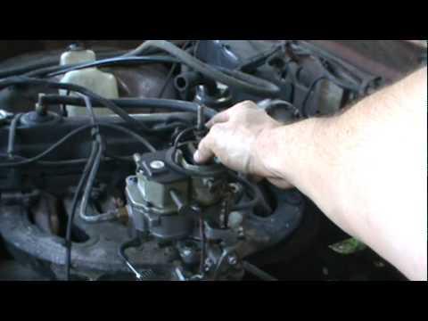 Fixing vacuum lines on the old Slant six - YouTube