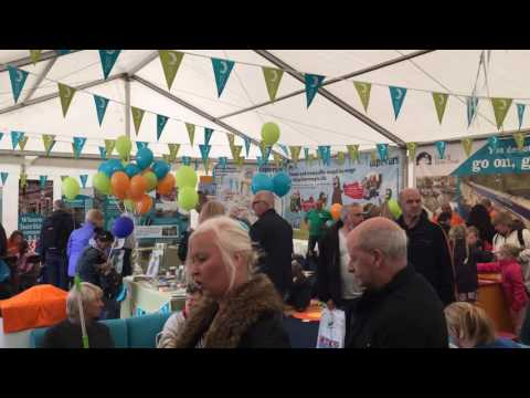 The Trust's marquee at Crick Boat Show 2016