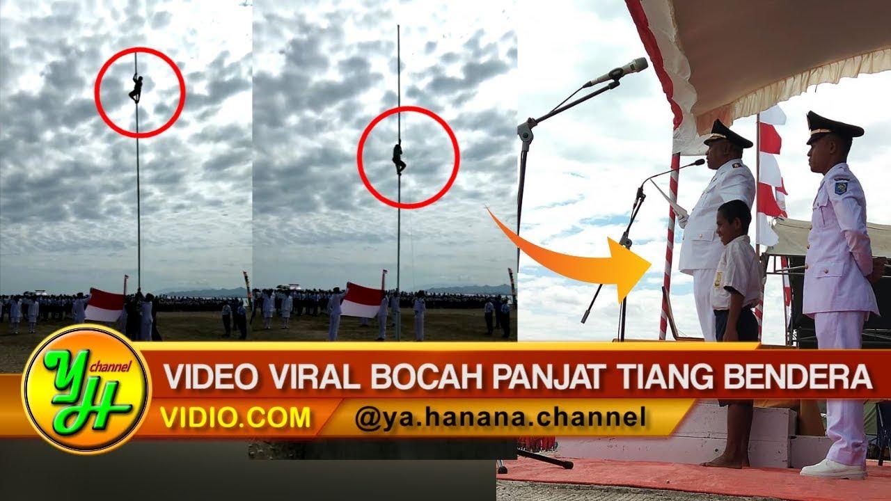 Detik-detik Bocah Panjat Tiang Bendera Demi Betulkan Tali Yang Putus Saat Upacara 17 Agustus di NTT