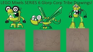 LEGO Mixels Series 6 Glorp Corp Tribe Drawings!