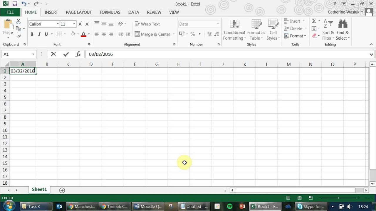 How To Get Today Date Excel