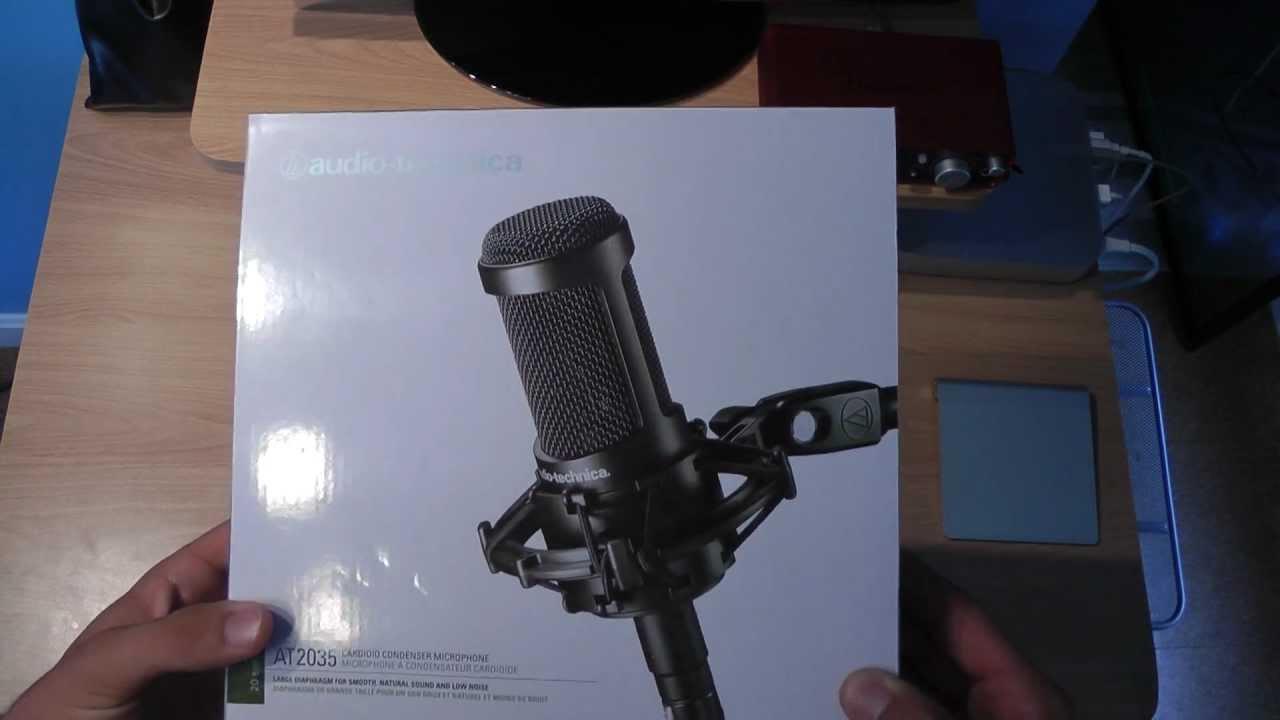audio technica  cardioid condenser studio recording microphone unboxing review youtube