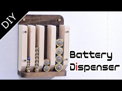 Make a Wooden Battery Dispenser