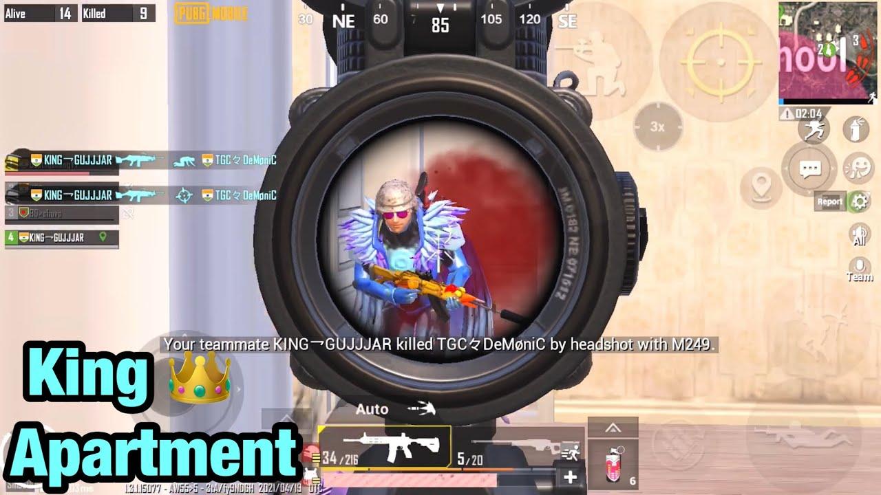 PUBG Mobile Apartment King 👑 ! 4 Squad Wipe In Apartment ! Death Gaming
