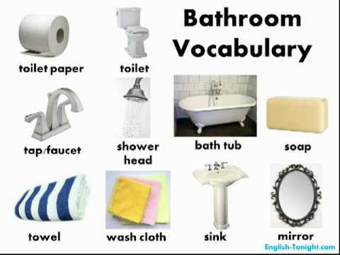 Learn English: Bathroom Vocabulary