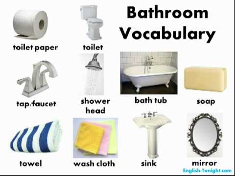 Learn English Bathroom Vocabulary Youtube