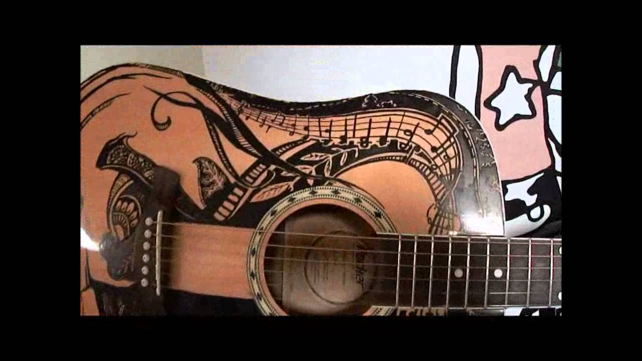 custom guitar paint job horse youtube. Black Bedroom Furniture Sets. Home Design Ideas
