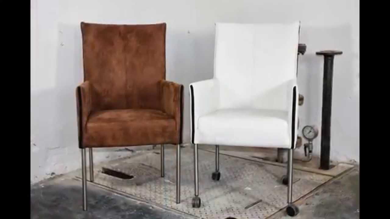 Eettafel stoelen op wieltjes leren eetkamerstoel met wieltjes en