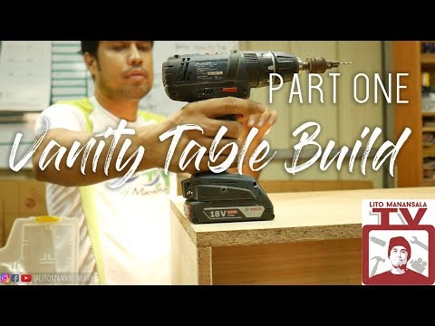 Vanity Table by CNC Router Build part 1.