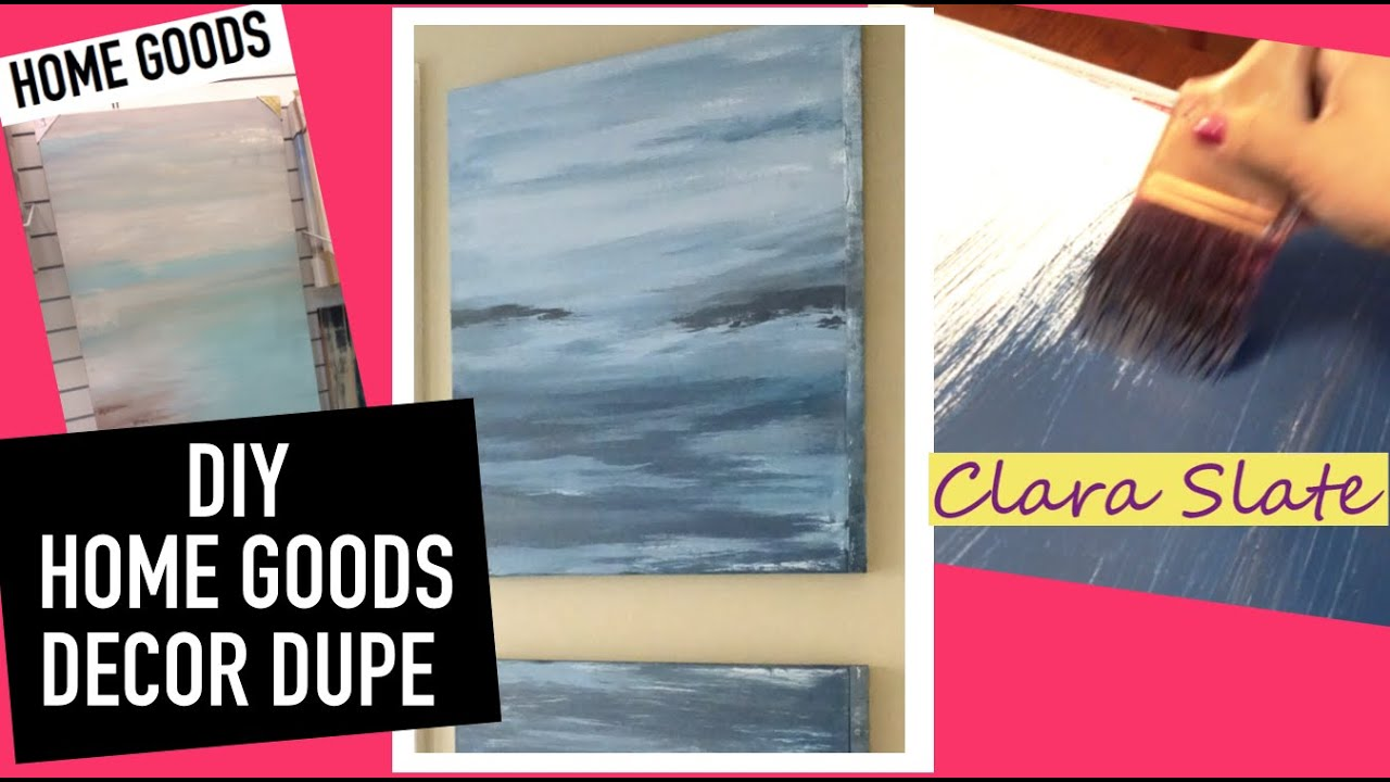 Diy home goods decor dupe upcycling sample paint youtube for Home goods decor