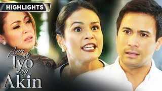 Gabriel confronts Ellice for causing a scene at his father's wake | Ang Sa Iyo Ay Akin