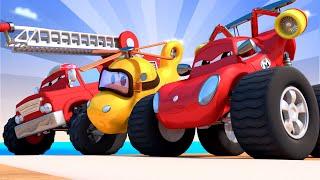Monster trucks for children - The Monster Town Olympics  - Monster Town