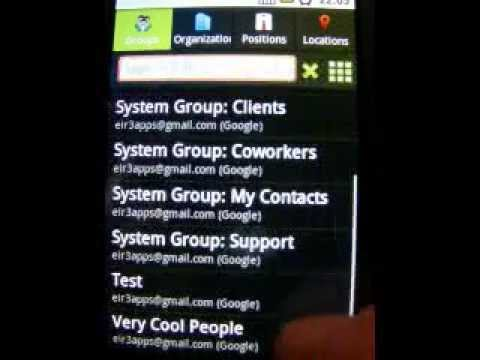 Corporate Contacts App For Android