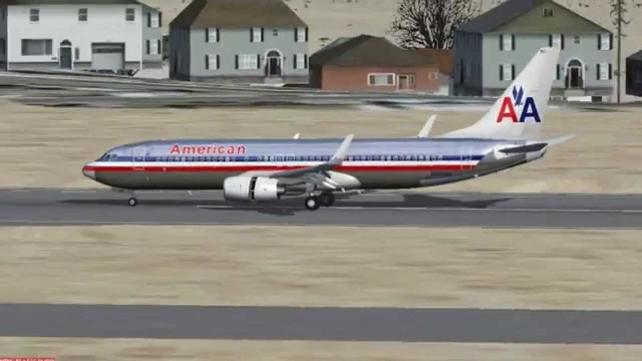 FSX - Boeing 737-800 American Airlines Old colors - TDS model