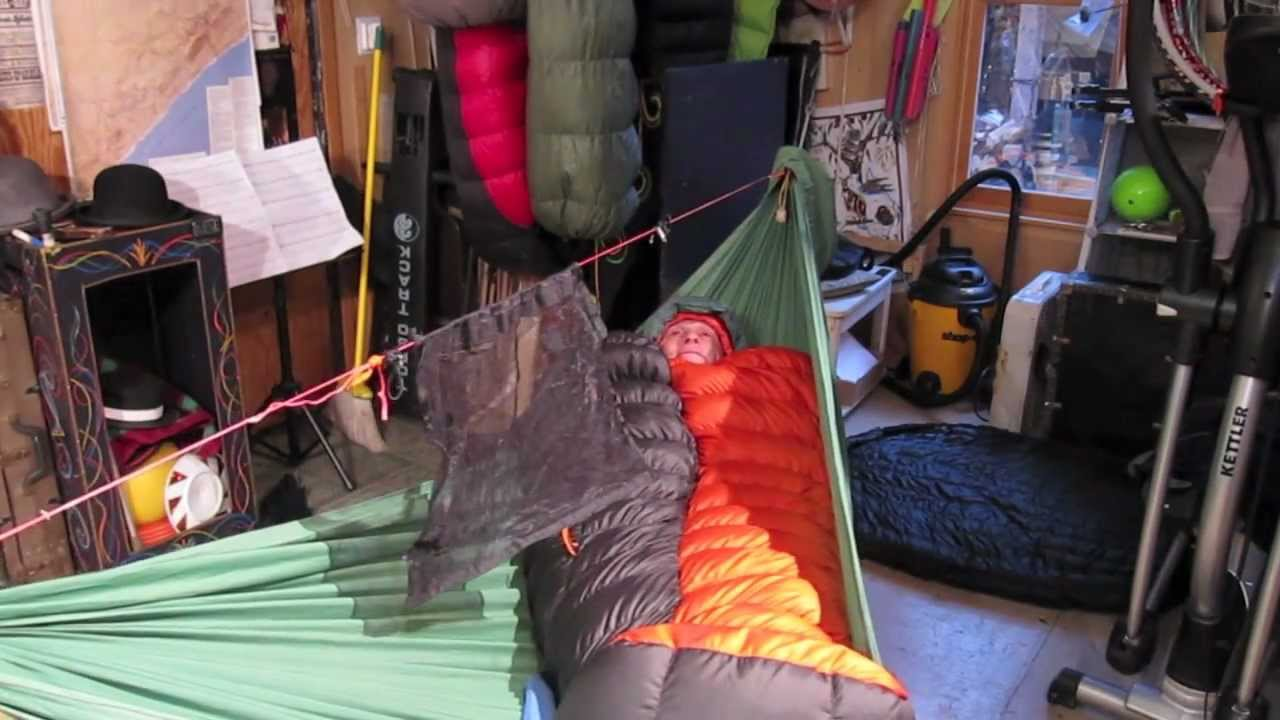 Sleeping Bag As Top Quilt In Hammock AndPads