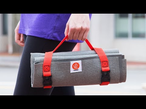 The most portable yoga mat we could find.