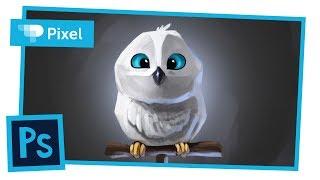 Рисуем сову в Adobe Photoshop | персонажное рисование | для начинающих