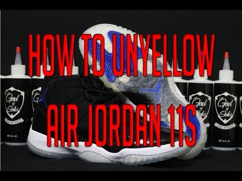 How to Un Yellow Air Jordan 11 XI Soles