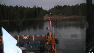 Skåldön lossi Tammisaaressa. Cable ferry at Tammisaari Finland 2011