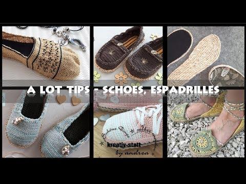 DIY Crochet Espadrilles - 8 useful Tips for Shoes Soles Espadrilles [How to] EN