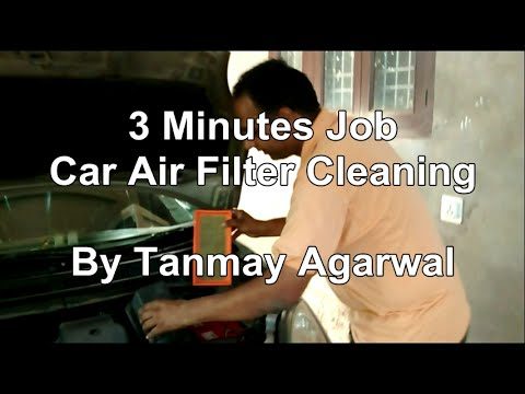 3 Minutes Job: Car Air Filter Cleaning