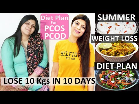 PCOS Diet For Weight Loss In Hindi  Pcos Summer Diet Plan In Hindi Lose Weight Fast 10Kgs In 10 Days
