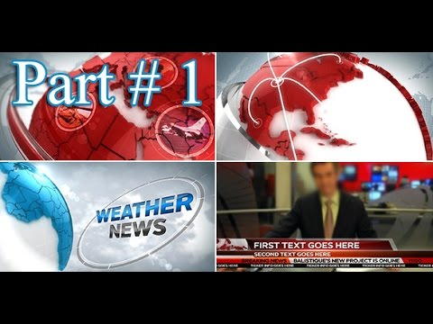 Creating a 3D Broadcast News Open Tutorial - Part 1