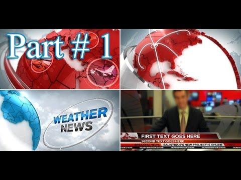 Creating a 3D Broadcast News Open Tutorial - Part 1