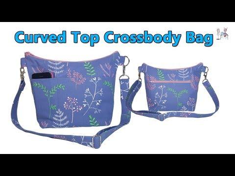 DIY CURVED TOP CROSSBODY BAG / SHOULDER BAG / DIY BAG / BAG MAKING TUTORIAL