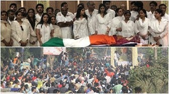 Sridevi funeral: 25,000 throng Mumbai roads to get a last glimpse of the legendary actress