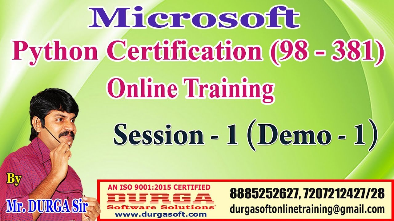Microsoft Python Certification Exam 98 381 Online Training