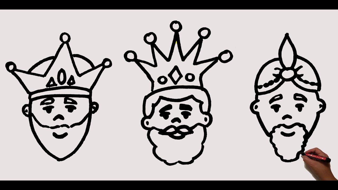 Como Dibujar A Los Reyes Magos / How To Draw The Wise Men