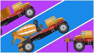 Transformex | Super Car | Drilling Machine, Dump Truck & Concrete Mixer