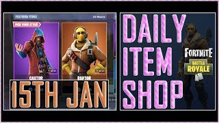 Fortnite: Daily Item Shop (15th Jan 2019) CASTOR & RAPTOR Featured Skin - Battle Royale New Items