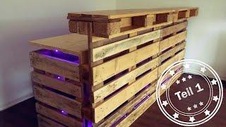 Bar selber bauen (aus Europaletten) - Teil 1