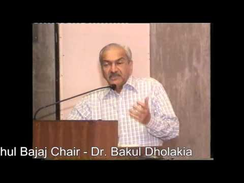 9th Prof. Ramlal Parikh Memorial Lecture, Chair - Dr. Bakul Dholakia