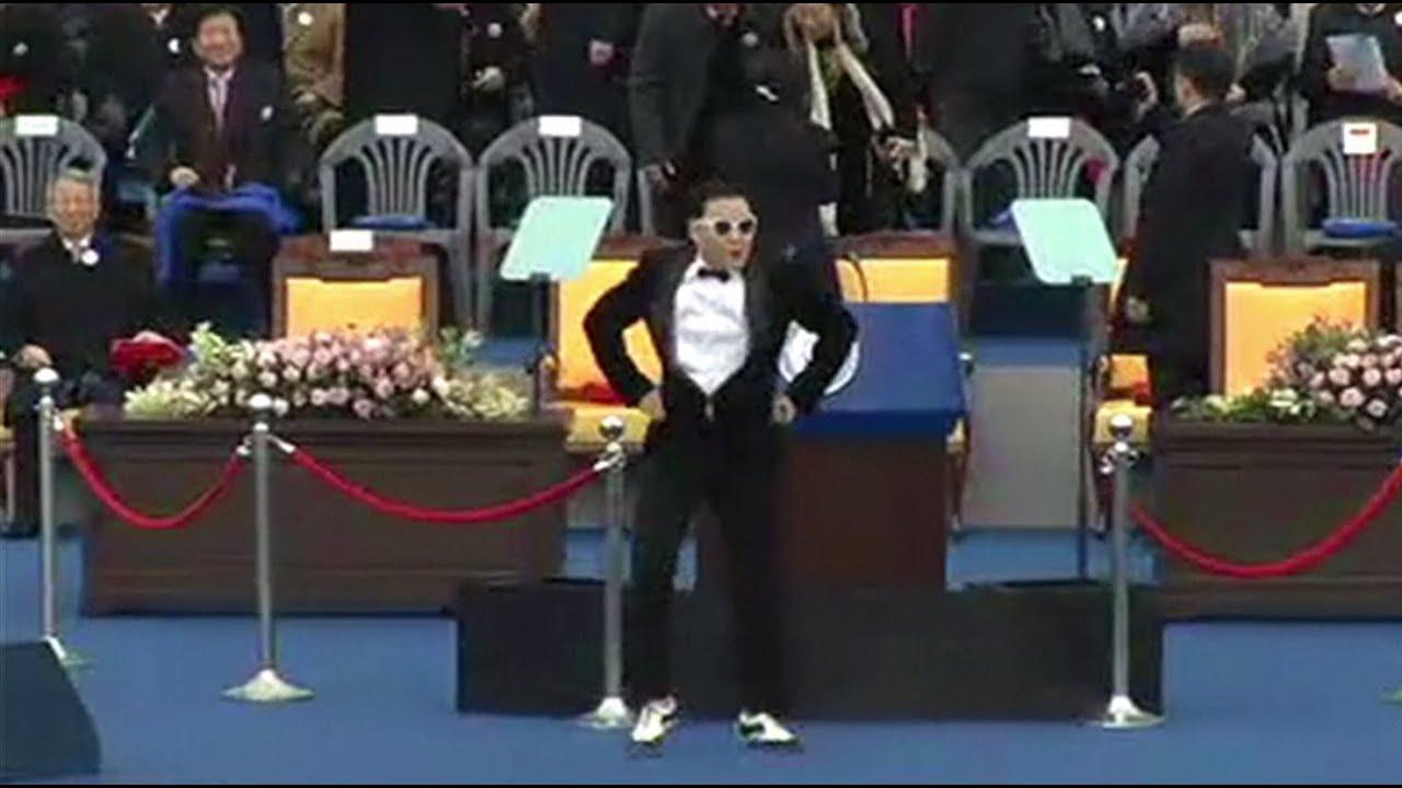 Gangnam style на инаугурации президента Южной Кореи