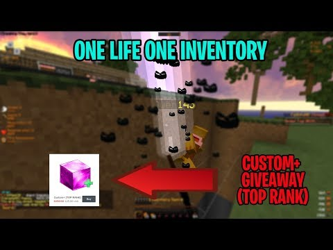 ONE LIFE ONE INVENTORY (WE MADE HIM 1 DTR) | FaithfulMC #2 (Custom+ Giveaway)